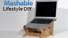 easy-to-create DIY laptop stand will improve your computing posture and add an extra height boost to your screen. Geek Crafts, Diy Craft Projects, Diy And Crafts, Craft Ideas, Diy Ideas, Diy Laptop Stand, Laptop Desk, Cardboard Furniture, Cardboard Crafts