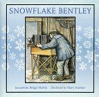 """Free Teachers' Guide to Snowflake Bentley by Jacqueline Briggs Martin. Snowflake Bentley celebrates one man's lifelong passion. Wilson Bentley was fascinated by snowflakes. Born in Vermont where, as the text says, """"Snow in Vermont is as common as dirt"""" in 1865, his parents supported his interest, spending their savings to buy him a camera and microscope. His thousands of photographs are still used in studies today. Martin tells the tale simply with sidebars adding further information about…"""