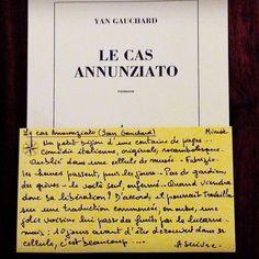 Le cas Annunziato de Yan Gauchard  Les Editions de Minuit  Coup de coeur Alexandre librairie Port à Quiberon  #lespetitsmotsdeslibraires #coupdecoeurlecture #libraires