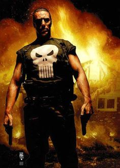 Punisher battle scene art by Tim Bradstreet The Punisher Movie, Frank Castle Punisher, Daredevil Punisher, Comic Book Characters, Marvel Characters, Comic Books Art, Comic Art, Book Art, Punisher Cosplay