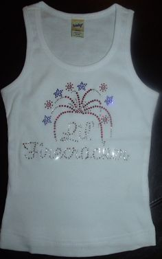 Lil Firecracker with Fireworks Burst Rhinestone by blingcouture21, $24.00