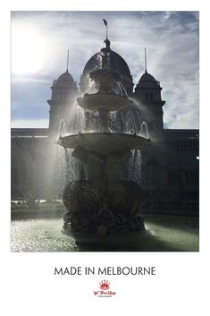 The central fountain in full swing at the old Melbourne Exhibition Buildings We Three Kings, Exhibition Building, Beard Oil, Melbourne, Fountain, Natural Hair Styles, Buildings, Wax, Old Things