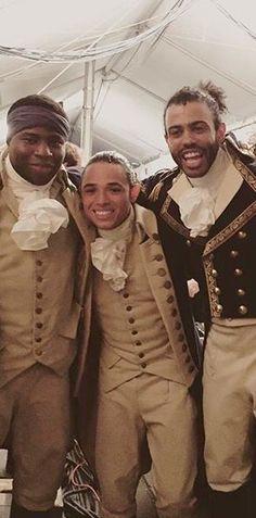 Mr. Hamilton, Mr. Jefferson, and Mr. Madison at the Tonys
