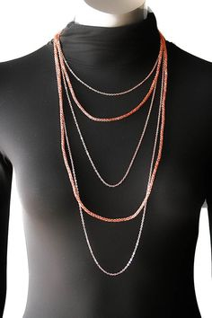 Multi strand bronze rose gold copper handmade chain by SosyGallery