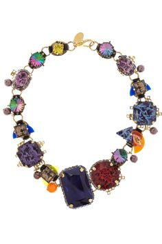 Erickson Beamon | Electric Avenue gold-plated Swarovski crystal necklace  | NET-A-PORTER.COM