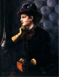 """Le Depart""  by Cesar Pattein (1885)"
