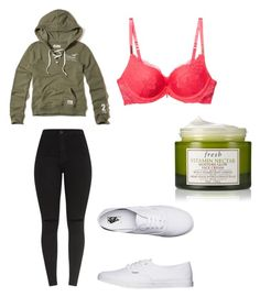 """""""Outfit 1649"""" by that-girl-j ❤ liked on Polyvore featuring Hollister Co., Wacoal, Vans and Fresh"""