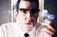 """Zachary Quinto (Dr. Oliver Thredson/Bloody Face) in """"American Horror Story: Asylum"""" (2012)"""