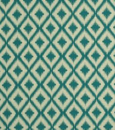Upholstery Fabric-Robert Allen Ikat Fret Tourmaline