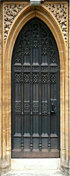 Black Gothic church door.