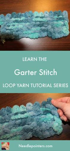 Learn the Loop Yarn Garter Stitch with this tutorial. The loop yarn garter stitch is a basic knitting stitch. Loop yarn is fun and easy to use. Circular Knitting Needles, Arm Knitting, Knitting Stitches, Loom Crochet, Finger Crochet, Chrochet, Finger Knitting Projects, Yarn Projects, Crochet Projects
