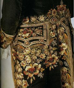 New embroidery fashion man century ideas Gold Embroidery, Embroidery Fashion, Embroidery Designs, 18th Century Clothing, 18th Century Fashion, 19th Century, Historical Costume, Historical Clothing, Textiles