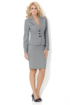 metrostyle ---- dress suit ----Paige Butcher----ms_00875_black_ivory---- Dress Suits, Ms, Ivory, Dresses For Work, Collection, Black, Fashion, Moda, Black People