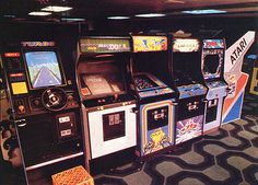 THE VIDEO GAME ROOM AT MOST MALLS IN THE 1980's
