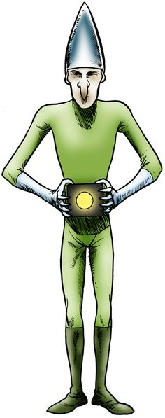 Imjarvi alien- alien encounter: an alien being described as being a really thin humanoid, having a conical head and helmet, wearing silver gloves and green suit, and holding a black box pulsating yellow. Two skiers claimed to have encountered this being in Imjärvi, Finland, in 1970. Both men later experienced sickness associated with being exposed to radiation.