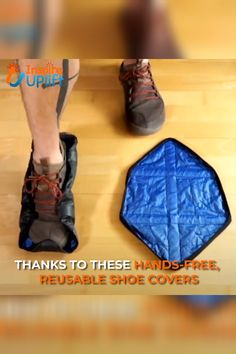 shoes - Hands Free Reusable Shoe Covers 😍 These Hands Free Reusable Shoe Covers are extremely easy to use, and the covers can be put on handsfree! Simply lay the covers flat on the ground and step onto them When pressure is applied, they automatically f Diy Cleaning Products, Cleaning Hacks, Deep Cleaning, Gadgets And Gizmos, Cool Inventions, Home Hacks, Hacks Diy, Ikea Hacks, Cool Tools