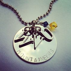 WVU 17 Necklace by UnaBellaCharm on Etsy, $22.00
