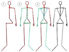 Here is a three-step guide to making a wire armature for a human male clamation figure to correct standard human proportion (approx. to the first three images show how to shape each of the t.Resultado de imagem para wire skeleton for dollmakingFirst Clay Dolls, Art Dolls, Sculptures Sur Fil, Doll Making Tutorials, Paper Mache Sculpture, Human Sculpture, Sculpture Art, Ideias Diy, Paperclay