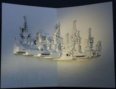 Libros Pop-Up Books Cards: Maravillosas Obras de Arte Pop-up de Arquitectura en Papel de Ingrid Siliakus