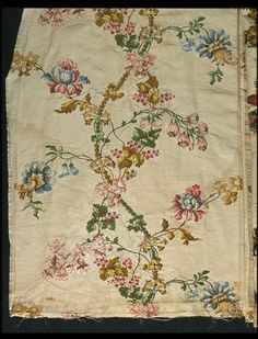 Dress fabric | V&A Search the Collections, silk, 1736