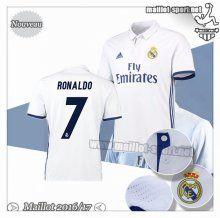 Maillots-Sport: Créer Un Maillot Foot Real Madrid Ronaldo 7 Domicile 2016 2017