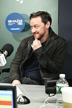James McAvoy visits 'Sway in the Morning' with Sway Calloway on Eminem's Shade 45 at the SiriusXM Studios on January 18, 2017 in New York City.