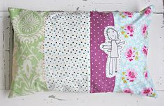 pillow for baby X with a drawing by Noah