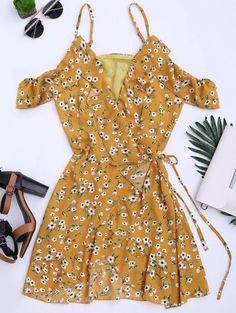 SHARE & Get it FREE | Floral Print Ruffles Cami Wrap Dress - Floral SFor Fashion Lovers only:80,000+ Items • New Arrivals Daily Join Zaful: Get YOUR $50 NOW!