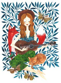 Colorhood - Guitar Girl by Oana Befort