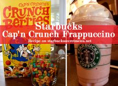 If you're a fan of Cap'n Crunch cereal, you're in for a treat with this Frappuccino!