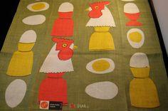 Vintage Vera Neumann 100 linen dish towel