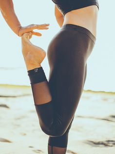 MATT BLACK & MESH SURF LEGGINGS by Salt Gypsy. Sleek, minimalist, and better than melanoma.   SHOP YOURS $79 AUD #saltgypsy #surfleggings #styleinthelineup