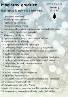 Magiczny grudzień: lista rzeczy do zrobienia z dzieckiem Christmas Activities, Christmas Projects, Christmas Time, Bullet Journal Christmas, Christmas Challenge, Handmade Christmas Decorations, Self Development, Journal Inspiration, Kids And Parenting