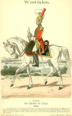 Regno di Westfalia - Trompeter der Gardes du Corp - 1812