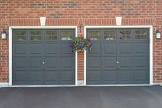 garage door color ideas for orangebrick house - 1000 images about Melissa s House on Pinterest