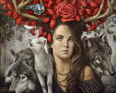 Sophie Wilkins is a Montreal-based artist, she has been dedicated to her art since Realism Artists, Photo Portrait, Spirited Art, Magic Realism, Painting People, Art For Art Sake, Surreal Art, Magazine Art, Animal Paintings
