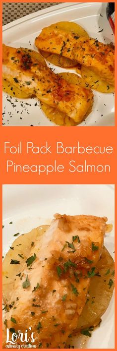 Great for grilling & camping! Delcious pineapple salmon made extra yummy with Pineapple and Budweiser Barbecue Sauce. I love that it cooks up in a foil pack since that means easy clean up. Plus, it makes a delicious camping dinner this summer.