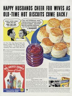 1937 Bisquick Biscuits Ad Funny Vintage Food by AdVintageCom