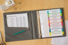 Planning a family reunion?  This planner is a must-have to keep everyone organized and everything running smoothly.  So easy to make using Avery Ready Index Dividers and an Avery Ultralast Binder that can handle a hectic schedule.