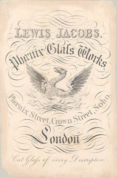 Lewis Jacobs Phoenix Glass Works  Active in London 1830-1870