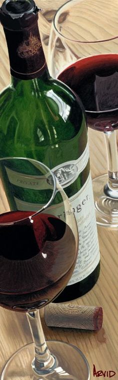 """Thomas Arvid wine art, """"Private Reserve"""" limited edition print on canvas at Art Leaders Gallery. Browse Thomas Arvid's complete collection online: artleaders.com 