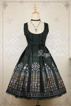 AcYutHorizon -Immortals- Gothic Stained Glass Printed Lolita Corset JSK - Preorder