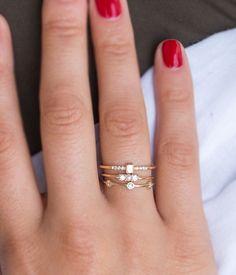 Diamond Pearl Ring - Audry Rose