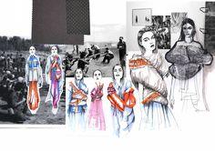 FLAG - WORK IN PROGRESS Fashion Sketchbook - fashion illustrations; Fashion Illustration Portfolio, Fashion Design Sketchbook, Fashion Design Portfolio, Fashion Sketches, Fashion Illustrations, Fashion Drawings, Sketchbook Layout, Sketchbook Pages, Sketchbook Inspiration