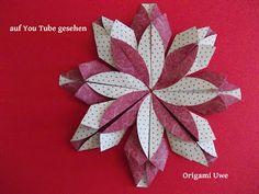 Origami, Fleurogami und Sterne: Diagramm Flor de papel 3D - Variante 1