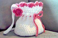 My Merry Messy Life: Free Crochet Pattern for a Crochet Little Girl's Purse