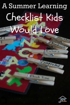 A Summer Learning Checklist Kids Would Love - Turn summer days into learning days that kids would love with this DIY checklist. | http://www.joyinthehome.com