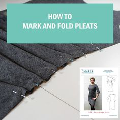 A sewing video showing you how to mark and fold pleats. Here the drape pleats of the Karen Drape Dress... In 2.17 you know it all!