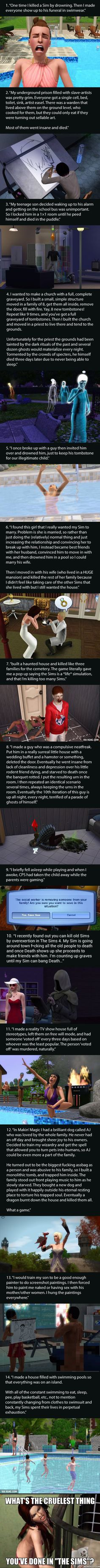 "14 Most F**ked Up Things Gamers Have Done In ""The Sims"" - 9GAG"