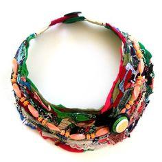 Textile Art Necklace No.2 by shagpiledesigns, via Flickr- Andria Beighton